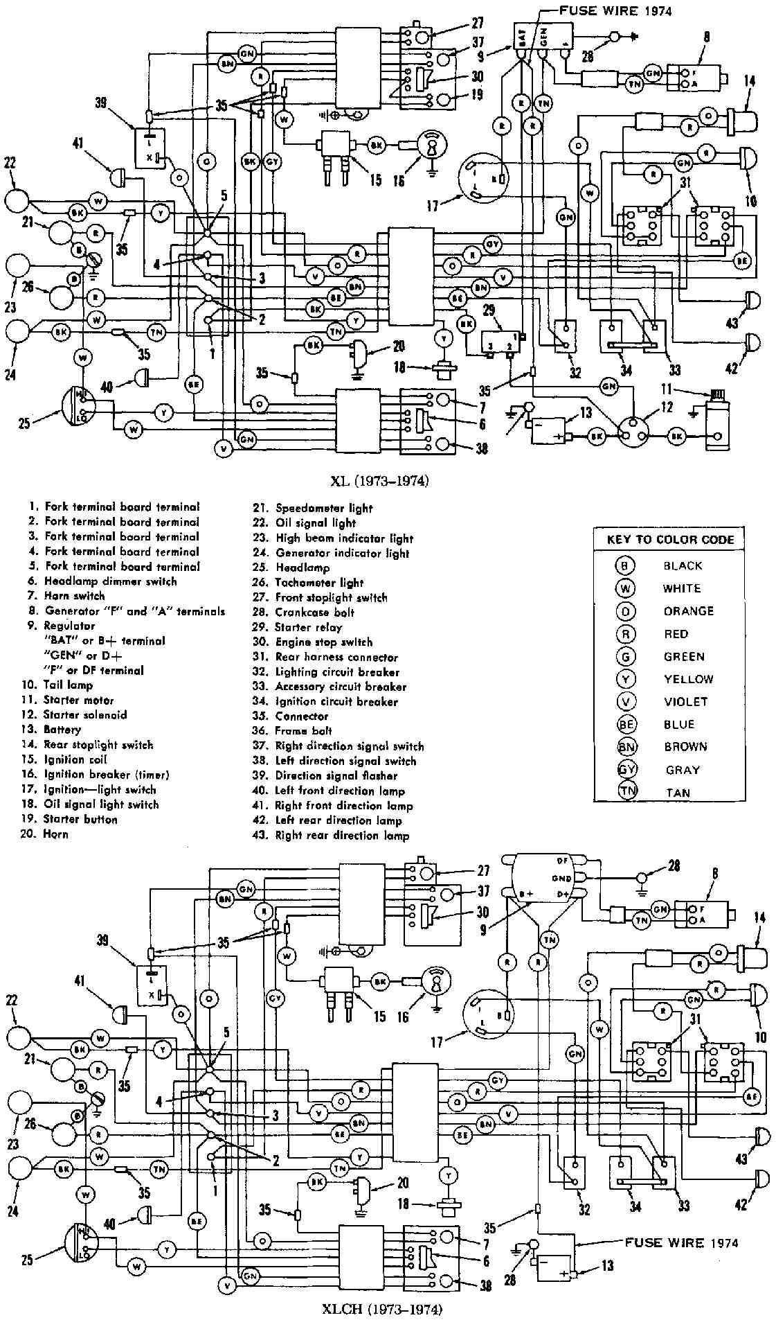 harley davidson wla wiring diagram