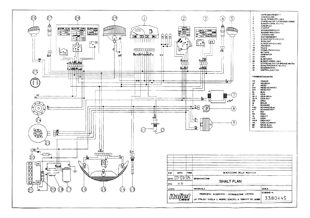 Italjet  Motorcycle Manuals PDF, Wiring Diagrams & Fault