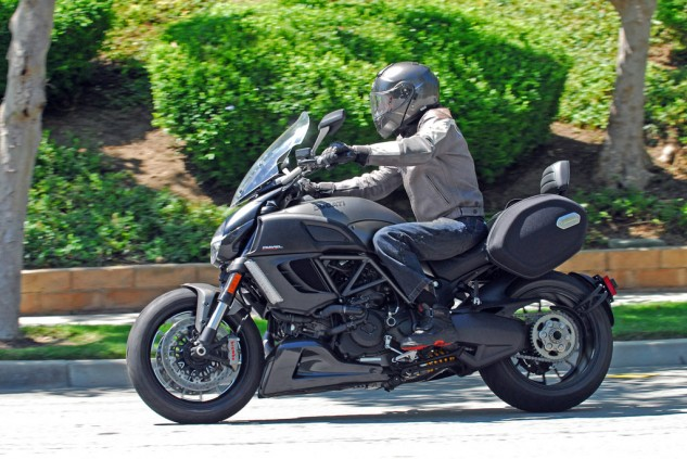 2013 Ducati Diavel Strada Action Left