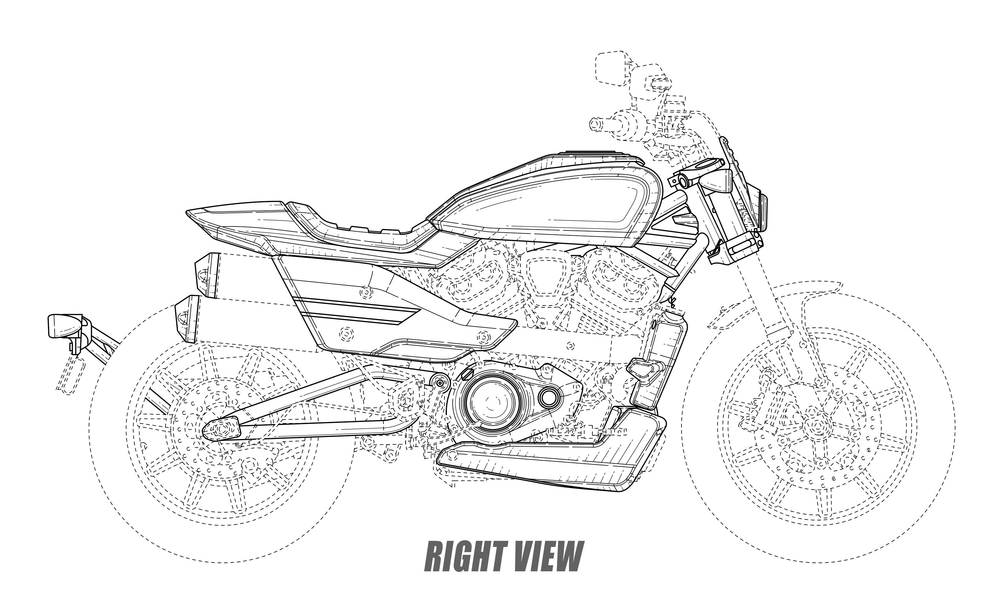 Harley Davidson Files Cafe Racer And Flat Tracker Designs