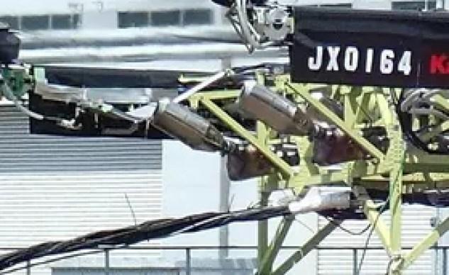 Kawasaki hybrid drone exhausts