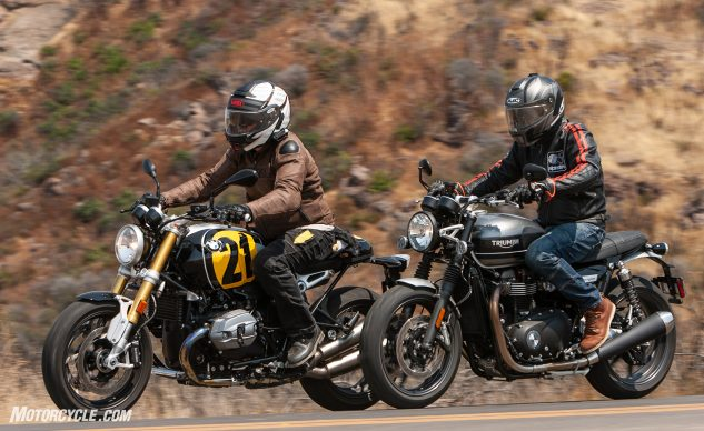 2020 Triumph Speed Twin vs BMW R nineT