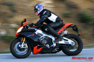 Despite the RSV4 R and Factory's compact rider triangle, resident tall(ish) guy Jeff learned to love all that the Aprilia had to offer in terms of its handling, braking and powerful V-4 engine.