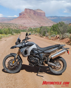 The 2009 BMW F800GS is in its element.
