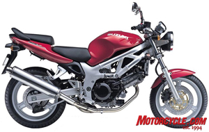 The first generation SV650: A Suzuki original.