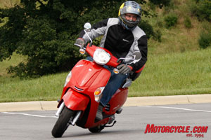 The 2010 Like 50 will no doubt draw comparisons to the Vespa LX 50.