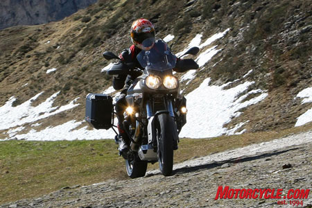 With a bike this size off-road riding should be left to those with plenty of experience.