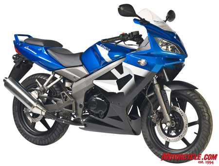 The Quannon 150 is Kymco's first attempt at a sportbike.
