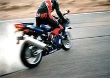 Sands on the highly anticipated R6, performing his most dangerous stunt, the Headless Burnout.