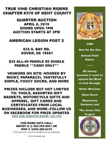 CMA Quarter Auction @ American Legion Post 2 Dover, DE