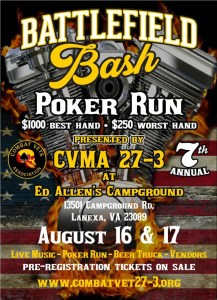 CVMA 27-3 Battlefield Bash Poker Run @ Ed Allen's Campground