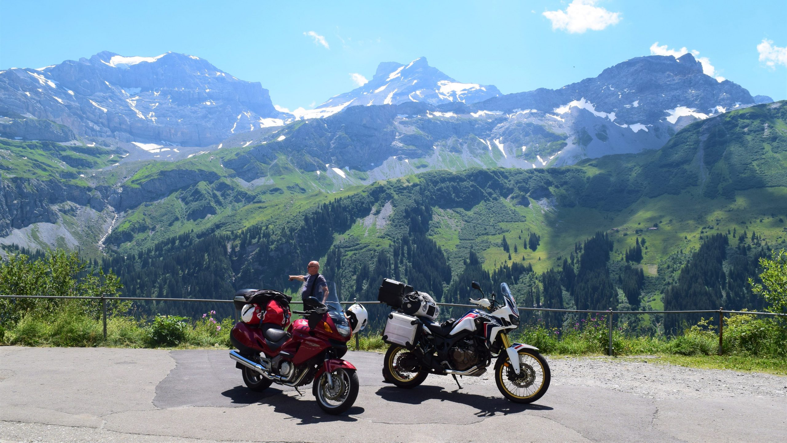 two bikes in the austrian alps
