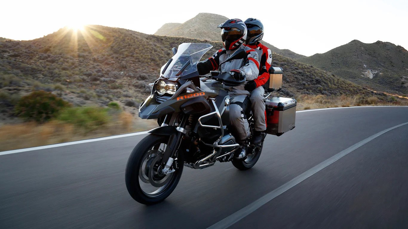 bmw gs - riding with pilion