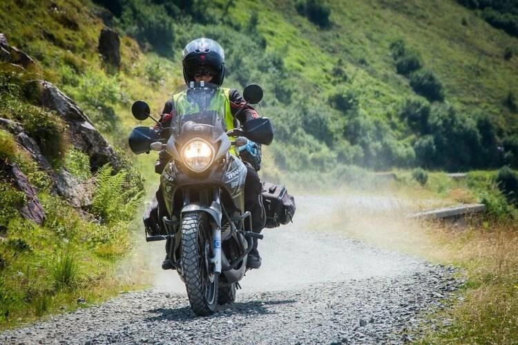 honda transalp gravel - motorcycle touring miles per day