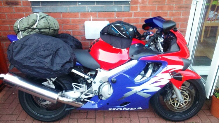 motorcycle with waterproof covers