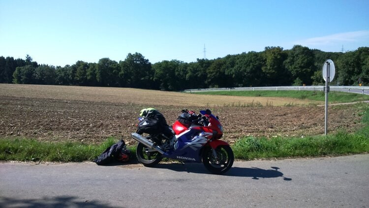 My CBR 600 in Luxembourg