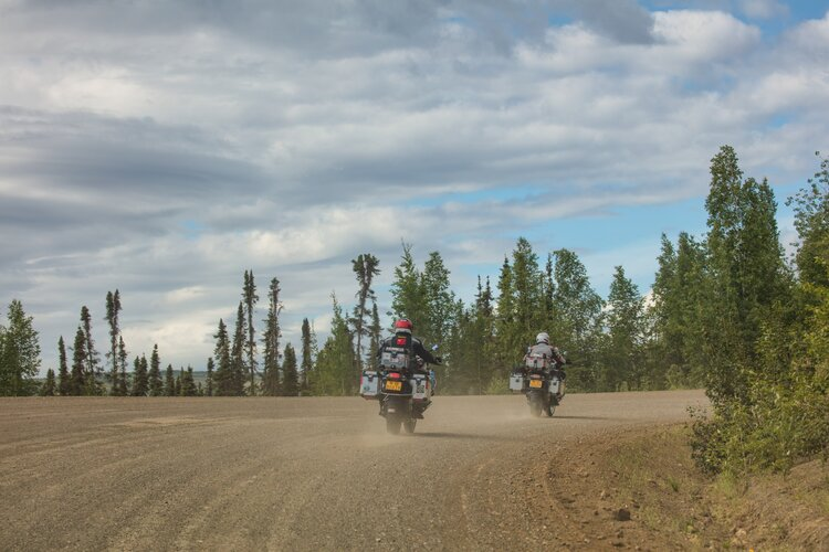 adventure bikes off-road - motorcycle touring packing options