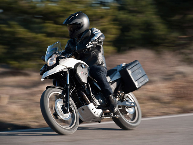 bmw g 650 gs with panniers