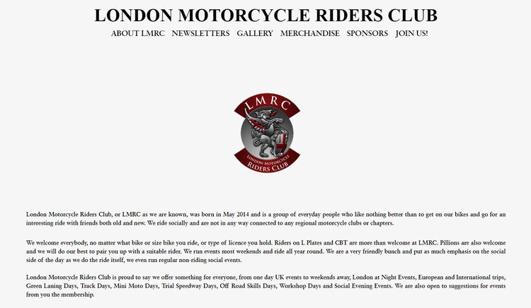 london motorcycle riders club - touring motorcycle clubs