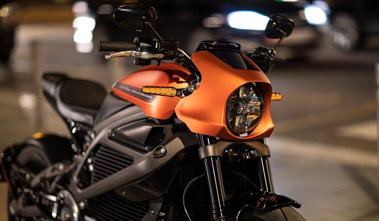 harley-davidson livewire, orange