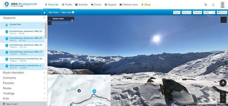 viewing points of interest - streetview