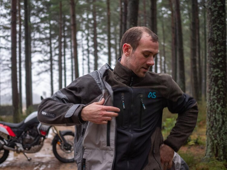 adventure spec linesman jacket - how to motorcycle camp