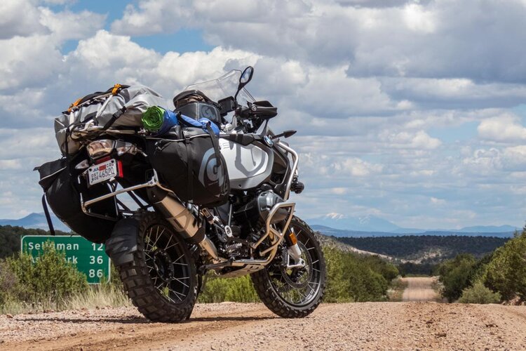 bmw fully ladened off-road - long-distance motorcycling