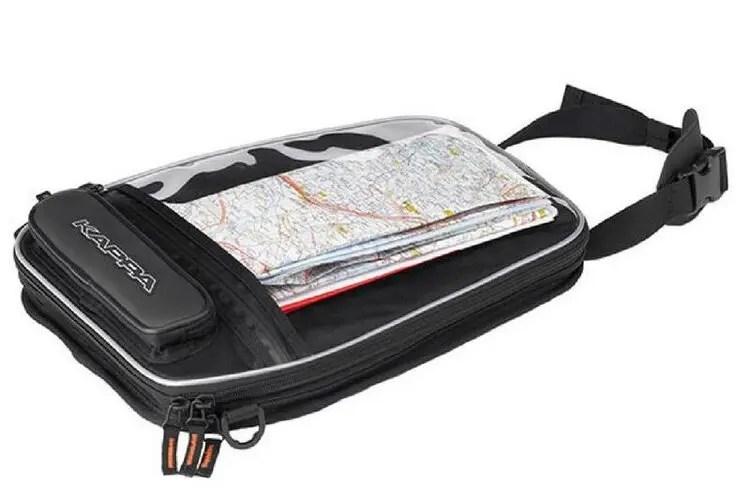 road map in tank bag