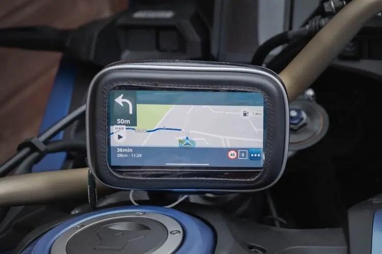 iphone 12 as motorcycle sat-nav