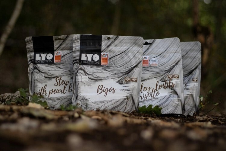 LYO dehydrated meals