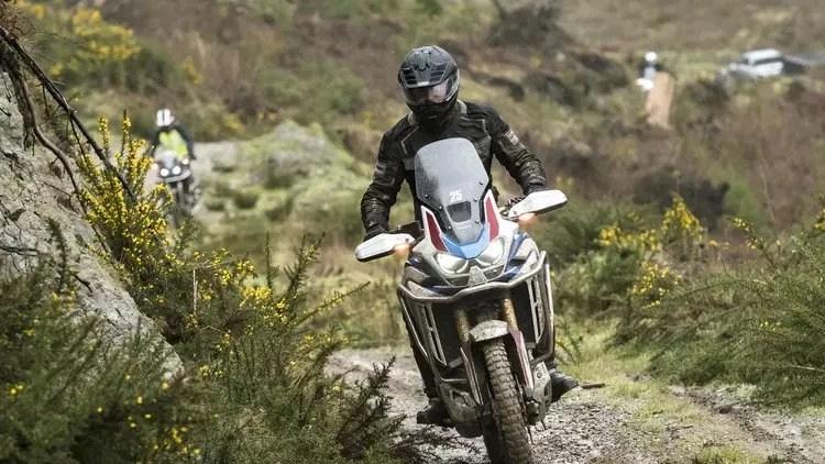 africa twin adventure bike on trails