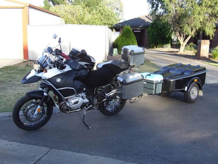 tow-behind trailer for GS motorcycle