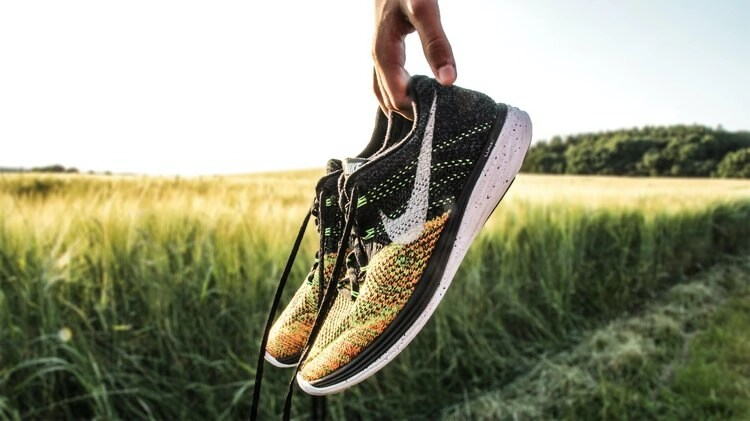 nike running shoes in field