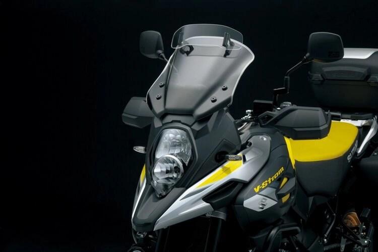 suzuki v-strom screen in combination with quietest motorcycle helmets