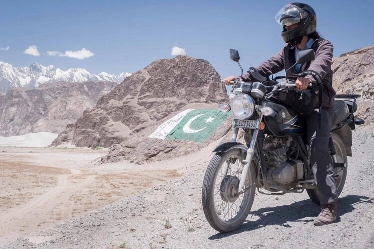 motorcyclist off-road pakistan