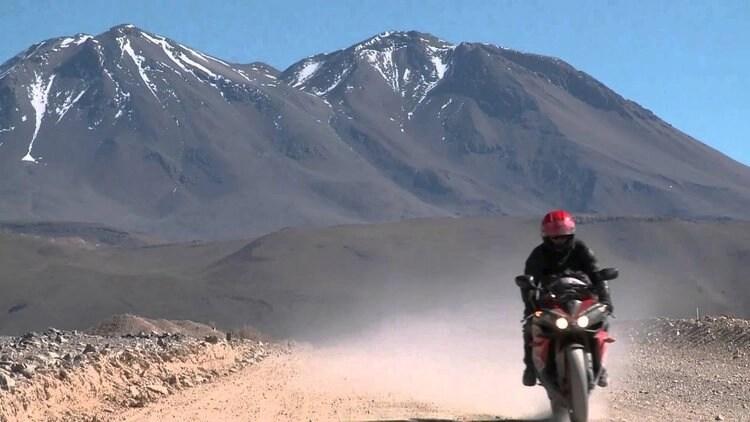 nick sanders touring on a sports bike