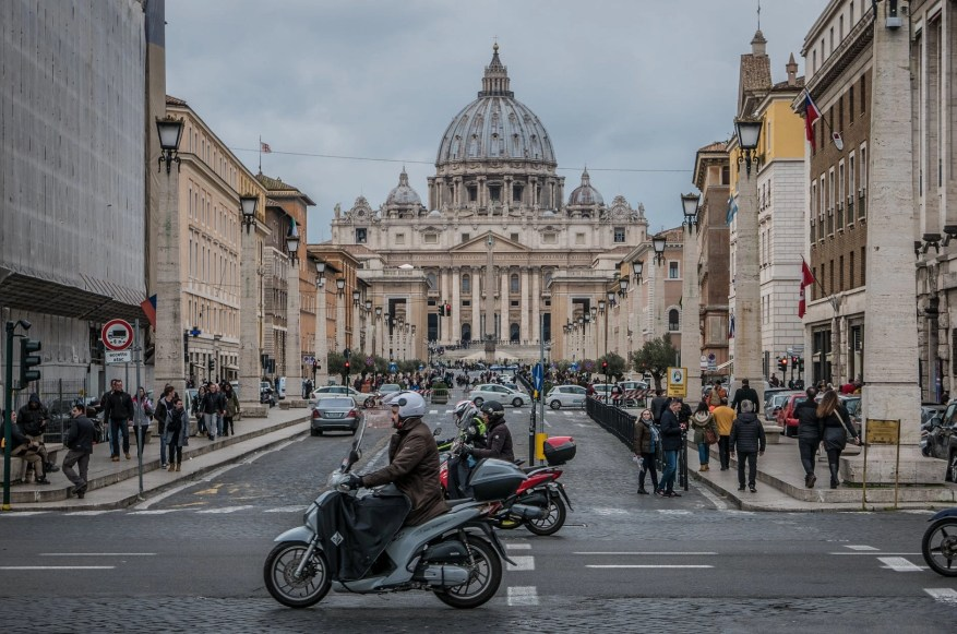 people in st peter s square - motorcycle riding tips & tricks