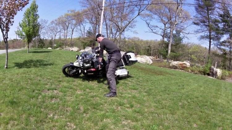 dropped adventure bike
