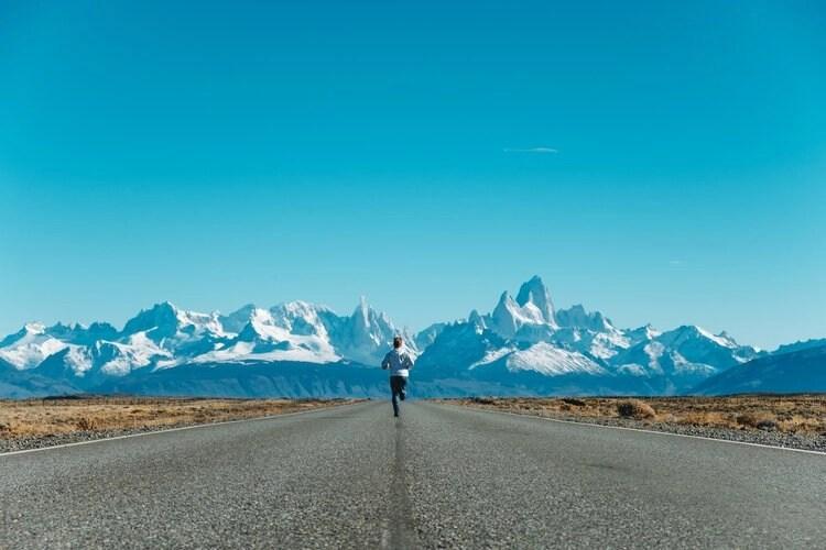 runner in patagonia