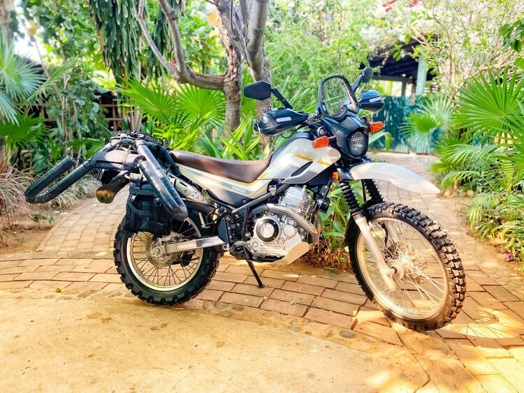 best motorcycles to tour around the world - little yamaha xt250