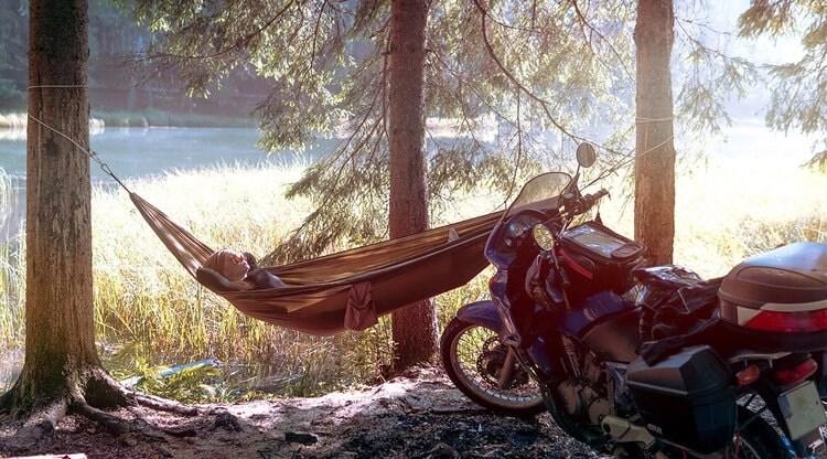 motorcycle and hammock