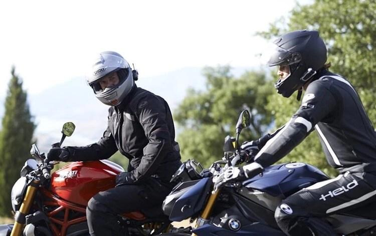 bikers wearing helmets