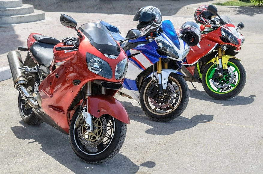 row of touring motorbike choices