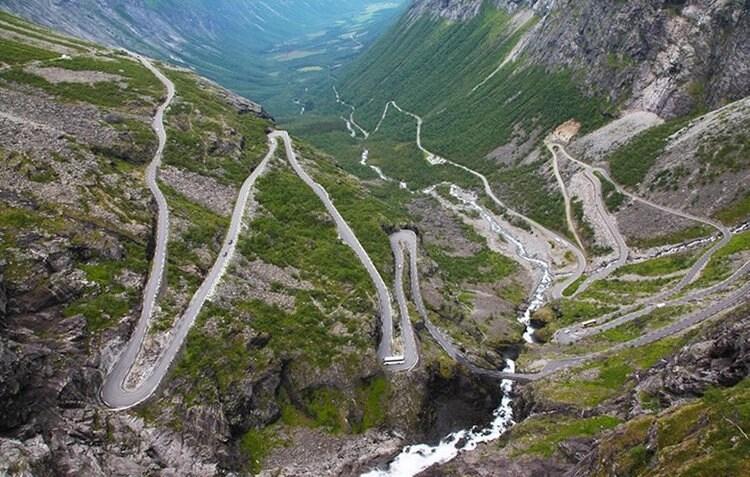 norway road, motorcycle
