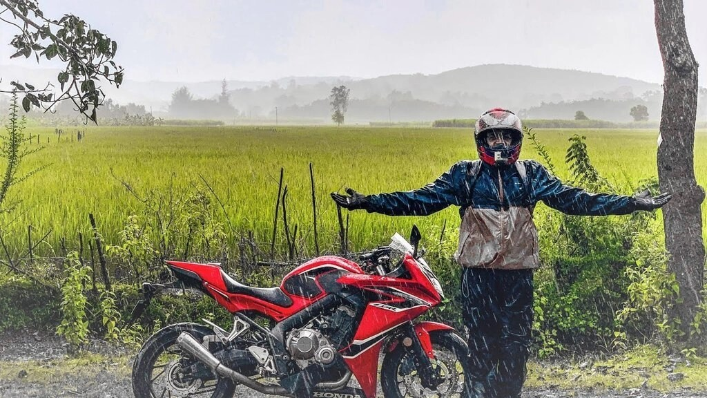 wet weather motorcycle gear - summer touring