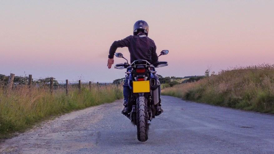 biker code hand signals - stop