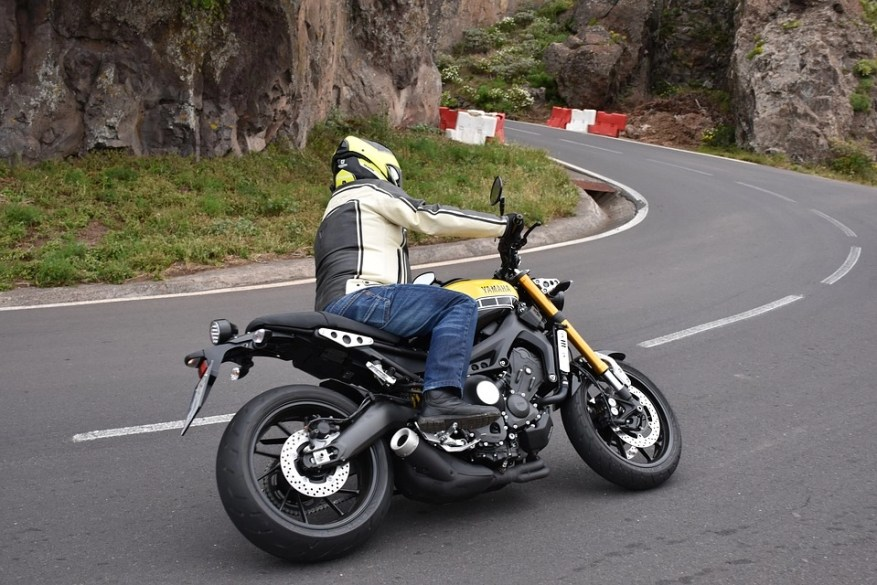 yamaha - hairpin bends on a motorcycle