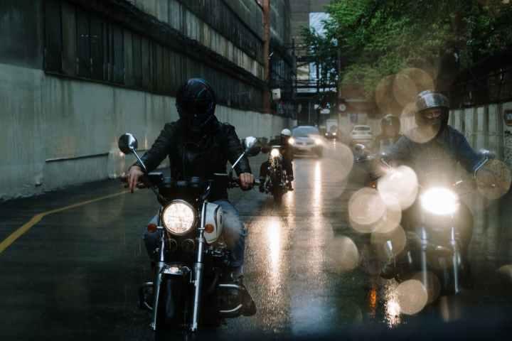Caught Riding in the Rain