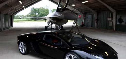 Lamborghini Aventador VS F16 Fighting Falcon