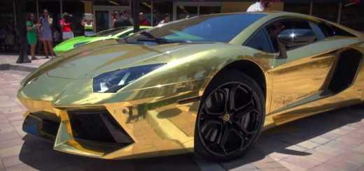 lamborghini aventador ouro